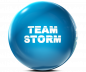 Preview: STORM Clear Poly - Team STORM - Electric Blue Bowling Ball
