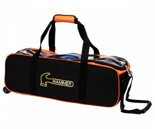 HAMMER Premium Slim Triple Tote - Schwarz/Orange