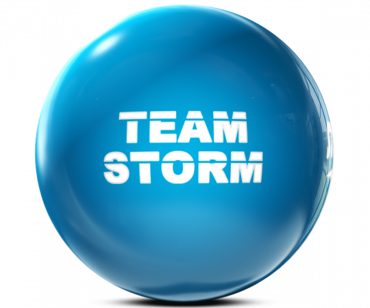 STORM Clear Poly - Team STORM - Electric Blue Bowling Ball