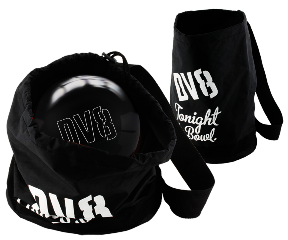 DV8® Polyester Just Black Bowling Ball Schultersack
