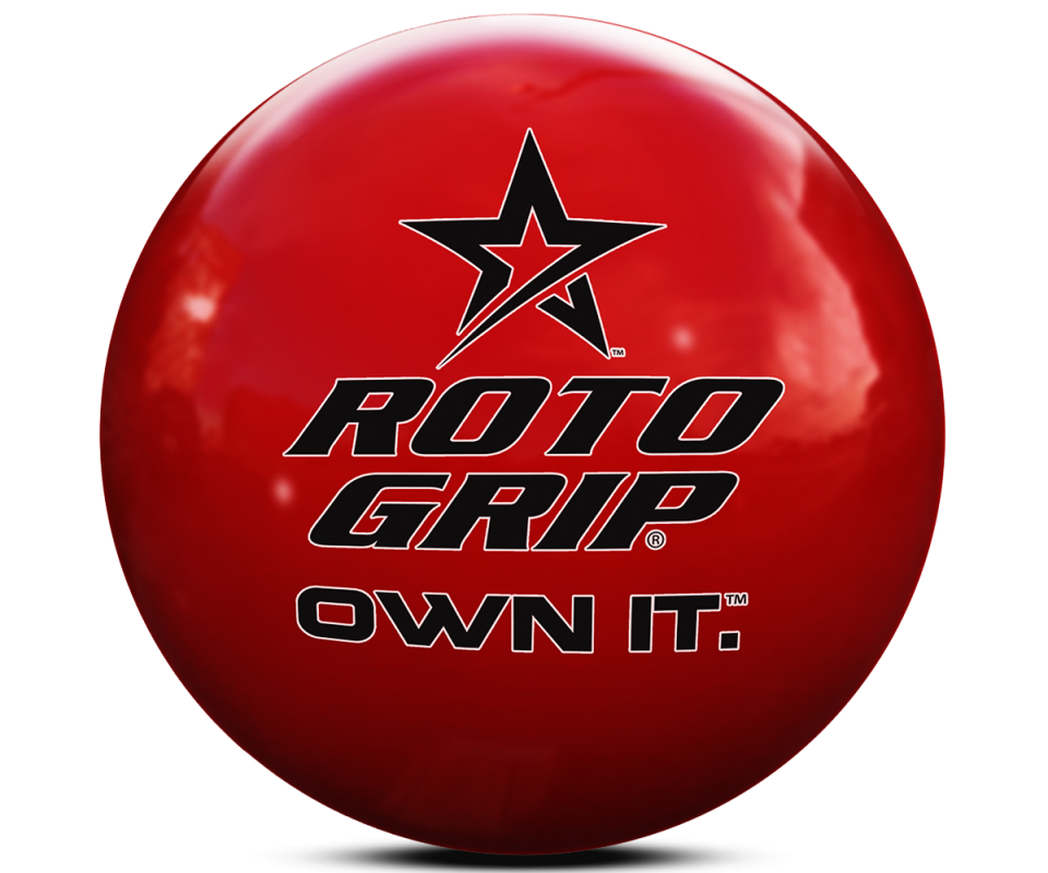 ROTO GRIP Clear Poly Own It Red Bowling Ball