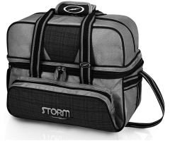 STORM Double Tote Deluxe - Grau Kariert