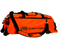 "VISE Triple ""Clear Top"" Tote Roller - Orange"